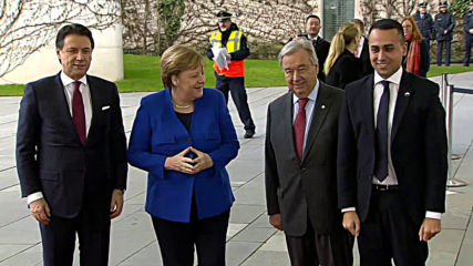 Germany: Italian PM and FM met by Merkel and Guterres as Libya conference begins