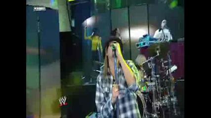 Wwe Kid Rock At Wrestlemania 25