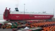 Транспортиране на високоскоростен локомотив Hitachi Class 800 с помощта на кораб и камиони!