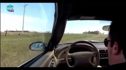 Шофьор заспа на волана,вижте какво стана