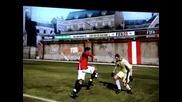 Fifa 09 Лудият ми финт и Гола с Kристиано Роналдо