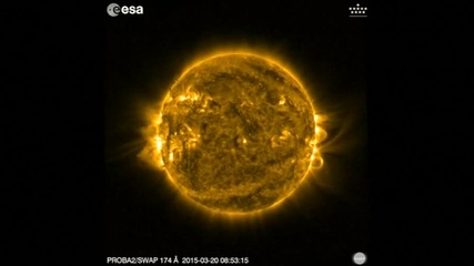 Сателит в Космоса засне слънчевото затъмнение