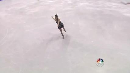 Японка Направи Изпълнение Кънки на Лед - Олимпийските игри