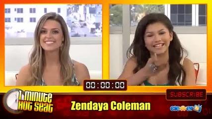 Н О В О !! 1 Minute Hot Seat With Zendaya Coleman