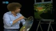 S16 Радостта на живописта с Bob Ross E02 - згушена колиба ღобучение в рисуване, живописღ