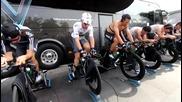 Team Sky тренират за 4-ти етап от Giro Italia