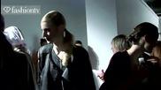 Jaeger Hair & Make Up Backstage - London Fashion Week Spring 2012