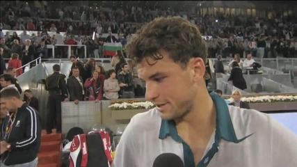 Интервюто на Григор Димитров след победата над Новак Джокович