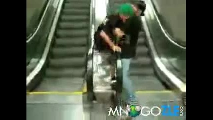Proval na nomer s eskalator