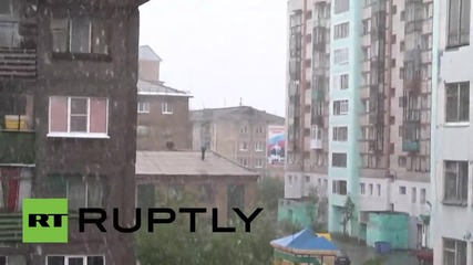 Russia: Snow in SUMMER? Northern town of Vorkuta hit by July blizzard