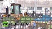 France: Make-shift migrant camp in central Paris demolished