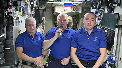 ISS: International crew members mark Victory Day from space