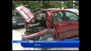 Нова телевизия - Новини - Инциденти - Почерпена шофьорка помля 5 коли във Варна