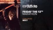 Реклама на великите хорър поредици Хелоуин, Петък 13ти, Кошмар на Улица Елм, Детска Игра и Трусове
