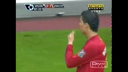 Ronaldo Showing Whos The Champion