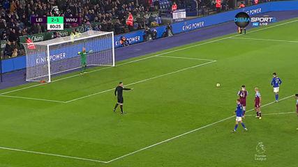 Лестър си върна двата гола аванс над Уест Хем