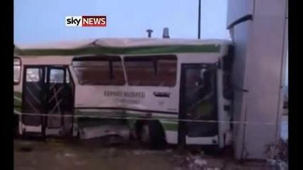 Кадри от катастрофирал aвтобус