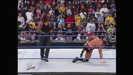Гробаря срещу Семейство Ортън - Хандикап мач с ковчег - целият мач - Без Милост 2005