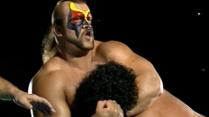 The Road Warriors compete at the 1986 Crockett Cup in rare Hidden Gem