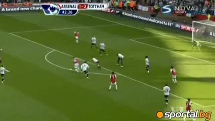 Арсенал - Тотнъм 5:2 ( Premier League 26.02.2012 )