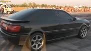 Audi S2 Coupe vs Mitsubishi Evo 8