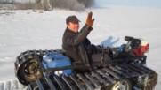 Гъсеничен вездеход - самоделка : D маде ин Русия