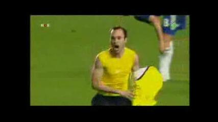 Челси - Фк Барселона гол на Андрес Иниеста в 90 мин за 1 - 1 барса на финал :p