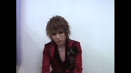 the Gazette - Ruki comment [2009.03.25]