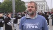 Austria: Activists bring hundreds of dead animals to Vienna city centre