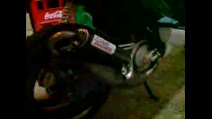 Първо палене Yamaha Aerox с Gianelli Extra !