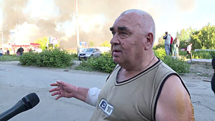 Russia: 'The blast threw a man onto the tram tracks' - locals recount Novosibirsk gas station explosion