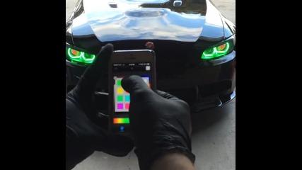 B M W със сензор за цвят на фаровете