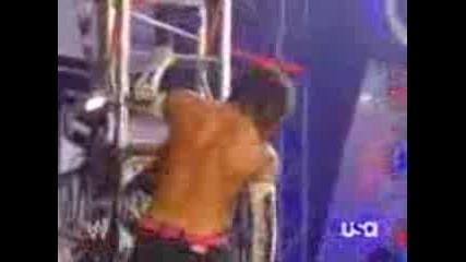 Jeff Hardy swanton bomb on randy orton 1/14/08