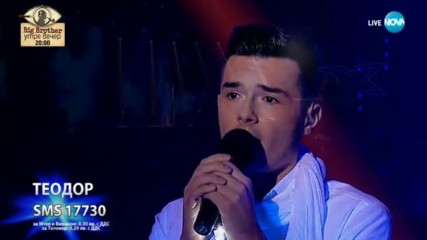 Теодор се пребори за вниманието на публиката - Angie - X Factor Live (12.11.2017)