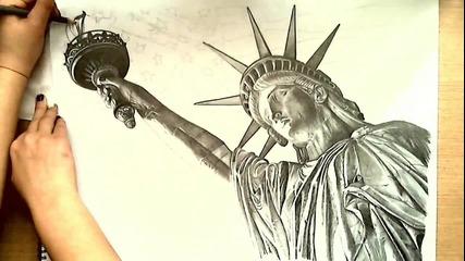 Рисуване на Статуята на Свободата