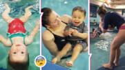 Хвърлят неможещо да плува дете в басейн?! Каква е истината зад скандалното клипче, обиколило нета