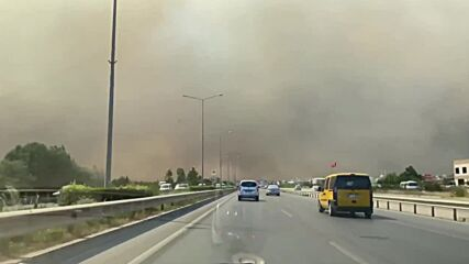 Turkey: Plumes of smoke rise to sky as fires burn close to coastal resorts