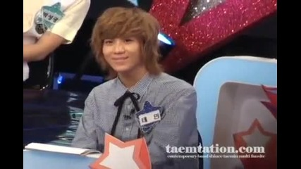 100823 Taemin groovin to buttons fancam recording