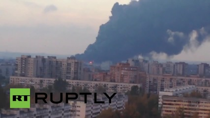 Russia: Historic St. Petersburg dominated by smoke following warehouse fire