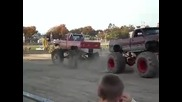 big dodge vs big ford at brockton fair mud runs