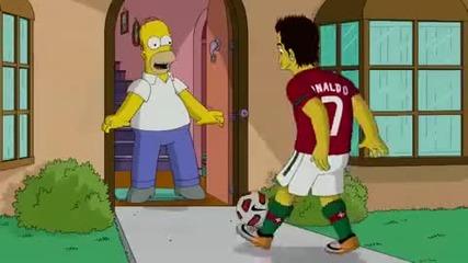 Cristiano Ronaldo в Simpsons