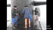 Руснаци се забавляват на северният полюс при -40 ° C