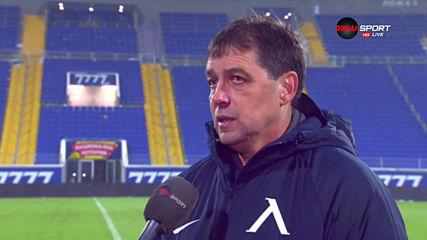 Хубчев: Победихме с желание и характер