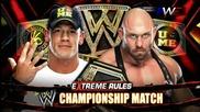 Wwe Extreme Rules 2013 шампиона на федерацията Джон Сина срещу Райбак