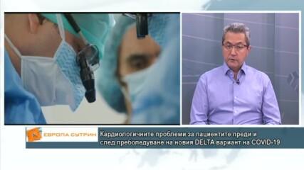 Кардиологичните проблеми за пациентите преди и след преболедуване на DELTA вариантa на COVID-19
