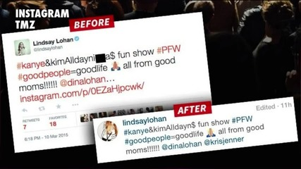 Lindsay Lohan Tweets, Then Quickly Deletes 'N-Word'