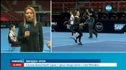 Григор Димитров играе тенис с деца