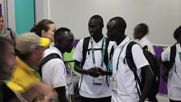Brazil: Members of Olympic refugee team arrive in Rio