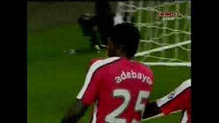 Arsenal - Porto 4:0 Adebayor Goal