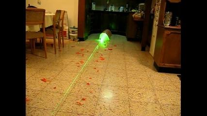 Силата на Зеления Лазер 500 Mw